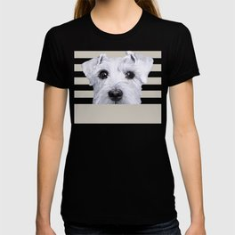 Schnauzer original Dog original painting print T-shirt