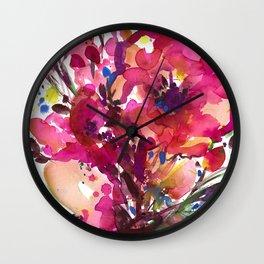 Floral Dance No. 3 Wall Clock