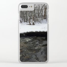 A stream of winter Clear iPhone Case