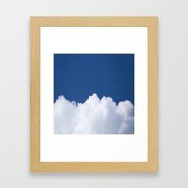 Semi-cloudy Day - Fluffy White Cumulus On The Blue Sky #decor #society6 #buyart Framed Art Print