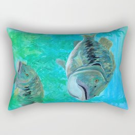 Bass Pairs Rectangular Pillow