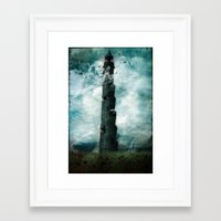 dark tower Framed Art Prints featuring The Dark Tower by Sybille Sterk