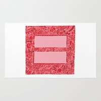 equality Area & Throw Rugs featuring Support Marriage Equality. by Chris Piascik