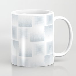 Pale Blue & Gray Textured Tile Square Simple Checkerboard Pattern Home Goods Coffee Mug