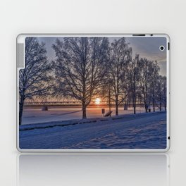 Sunset in Rovaniemi. Laptop & iPad Skin