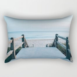 beachy pier by the ocean Rectangular Pillow