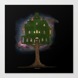 Cosmos Tree House Canvas Print