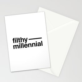 Filthy Millennial Stationery Cards