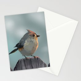 Small Bird Hears a Noise Stationery Cards