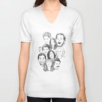 parks and rec V-neck T-shirts featuring Parks and Recreation 'Rec a Sketch' by Moremeknow