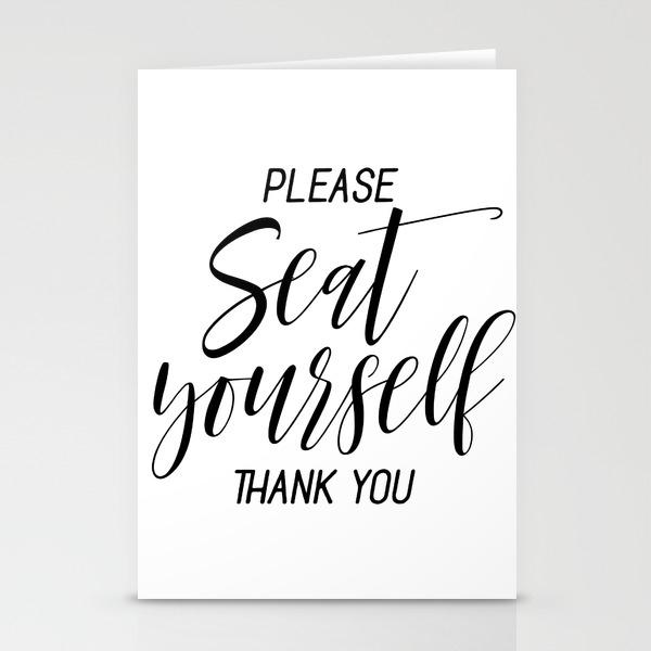 Printable please seat yourself thank you wall art funny bathroom wall art prints stationery cards by nikolajovanovic
