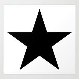 black star digital art logo image design zollione store Art Print
