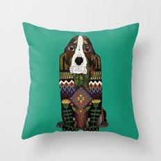 Basset Hound jade Throw Pillow