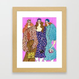 Love in Spade – Fall 2019 – Original Fashion art, Fashion Illustration, Fashion wall art Framed Art Print