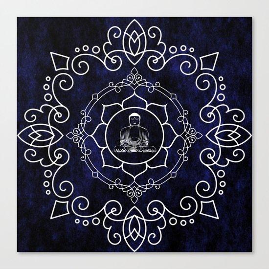 Buddha Lotus Mandala Canvas Print