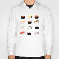sushi Hoodies featuring Sushi! by Sara Showalter