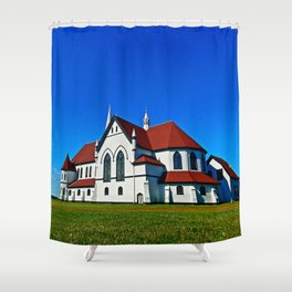 St. Mary's Church rear view Shower Curtain