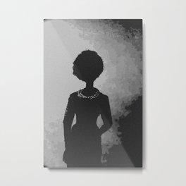 Smoke Shadows and Pearls Metal Print