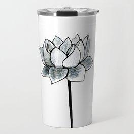 Grey Lotus Travel Mug
