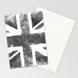 Grey UK Flag Stationery Cards