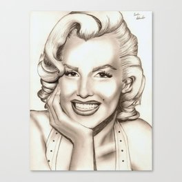 Marilyn Monroe Portrait Canvas Print