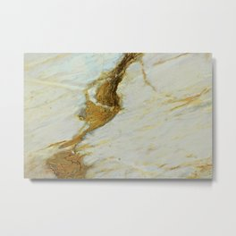 Polished Marble Stone Mineral Texture 5 Metal Print
