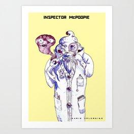Inspector McPoopie (poop detective) - Dario Splendido Art Print