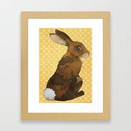 Bunny Rabbit on Yellow Framed Art Print