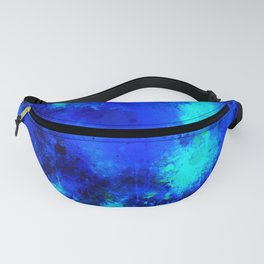 psychedelic color gradient pattern splatter watercolor blue Fanny Pack