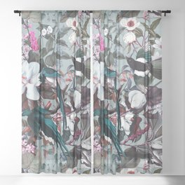 Floral and Birds XXIV Sheer Curtain