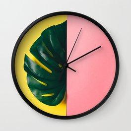 Half of palm leaf Wall Clock