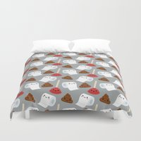 toilet Duvet Covers featuring Toilet pattern by Irmirx
