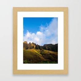 the island is calling Framed Art Print