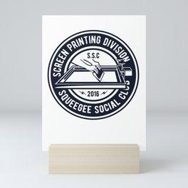 Screen printing division - Awesome screen printer Gift Mini Art Print