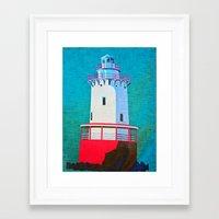 lighthouse Framed Art Prints featuring Lighthouse by Judy Palkimas