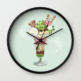 Greentea Parfait Wall Clock