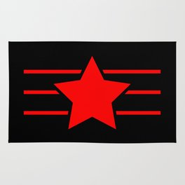 Red star with red lines - Vector Rug