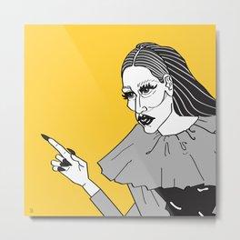 Miss X (2) Metal Print