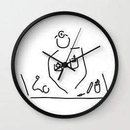 doctor with medicine utensils Wall Clock