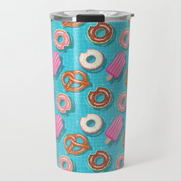 Poolparty doughnuts, pretzel,lollies Travel Mug