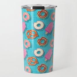 Poolparty doughnuts, pretzel,lollies Travel Mug