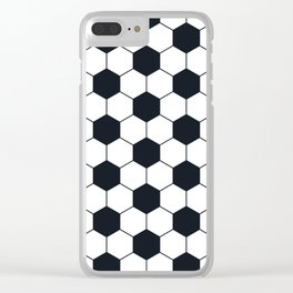 Soccer Football Pattern Clear iPhone Case
