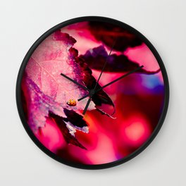 BEAUTIFUL LADYBUG Wall Clock