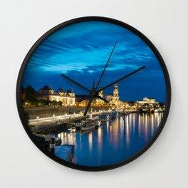 Dresden After Dark Wall Clock