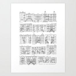 Facades de Plex Montrealais Art Print