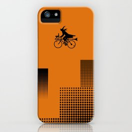 Witch on a Bicycle iPhone Case