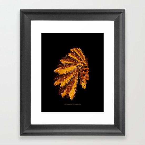 FIRST AMERICAN-006 Framed Art Print