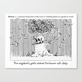 Doodler's Dictionary - Bower Canvas Print