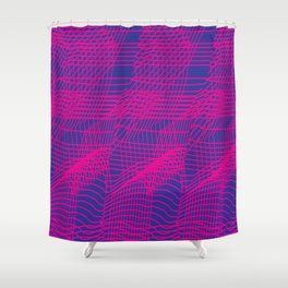 Glitchy Pink Shower Curtain