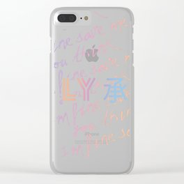 LY: Taehyung Ver. Clear iPhone Case